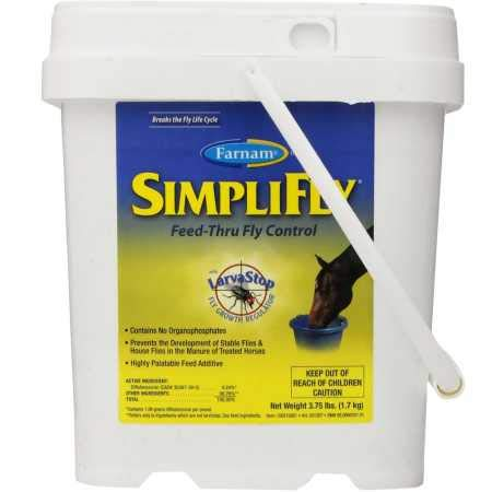Farnam SimpliFly Feed-Thru Fly Control for Horses, Breaks and Prevents the Fly Life Cycle, 3.75 pound