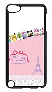 Brian114 Case, iPod Touch 5 Case, iPod Touch 5th Case Cover, Comic Paris Retro Protective Hard PC Back Case for iPod Touch 5 ( Black )