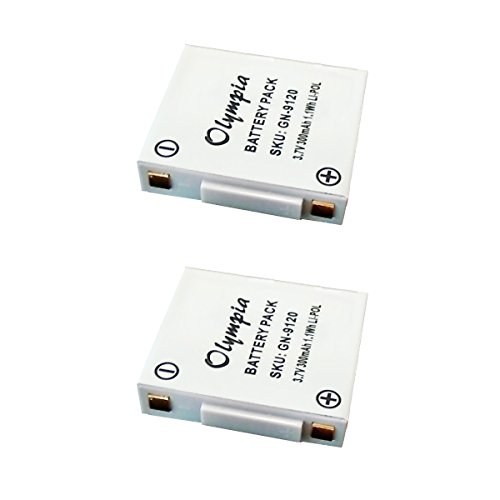 2 Pack of GN Netcom GN9120 Battery - Replacement Battery for GN Netcom Wireless Headset (300mAh, 3.7V, ()