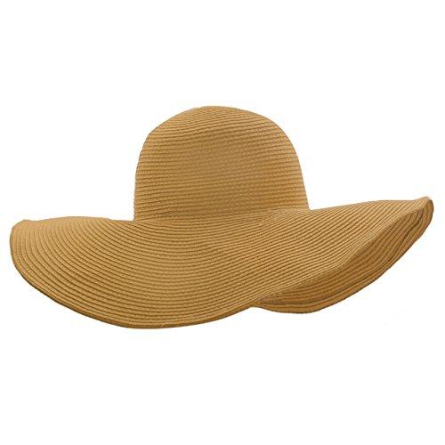 Ayliss Women Floppy Derby Hat Wide Large Brim Beach Straw Sun Cap]()