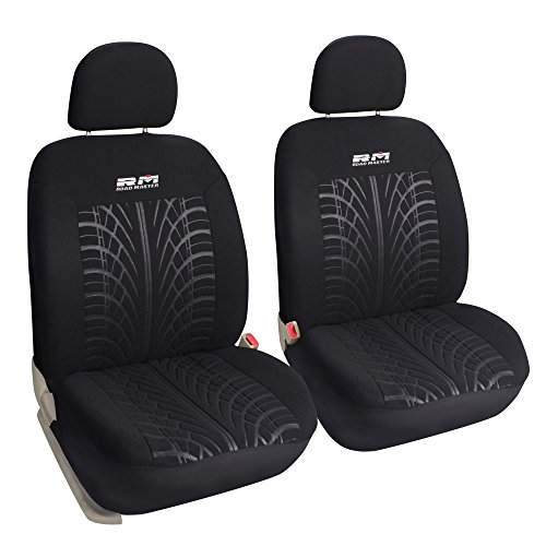 Leader Accessories Universal Front Rear Car Seat Covers PU Leather 11pcs Full Set Grey