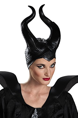 Disguise Women's Disney Maleficent Movie Maleficent Deluxe Adult Horns Costume Accessory, Black, One (Maleficent Costumes)