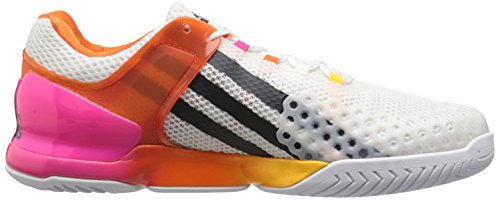 Mens Adidas Performance Scarpa Da Tennis Adizero Ubersonic Bianco / Grigio Scuro / Shock Pink