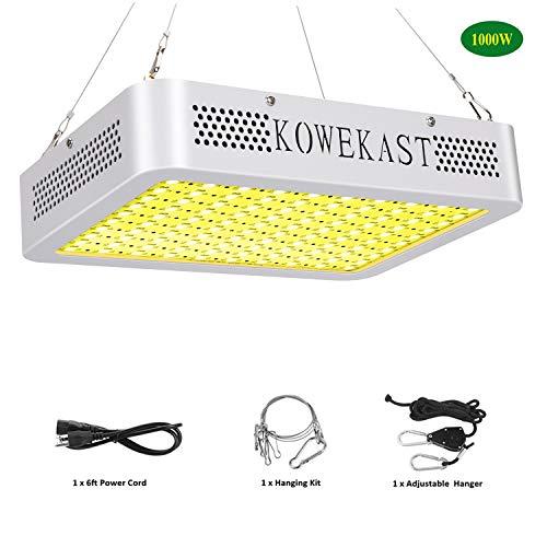 KOWEKAST 1000w LED Grow Light - Sunlike Full Spectrum LED Grow Lamp for Indoor Plants Seeding Veg and Flower Commercial Planting (100Pcs 10W LEDs) (Best Commercial Led Grow Lights)