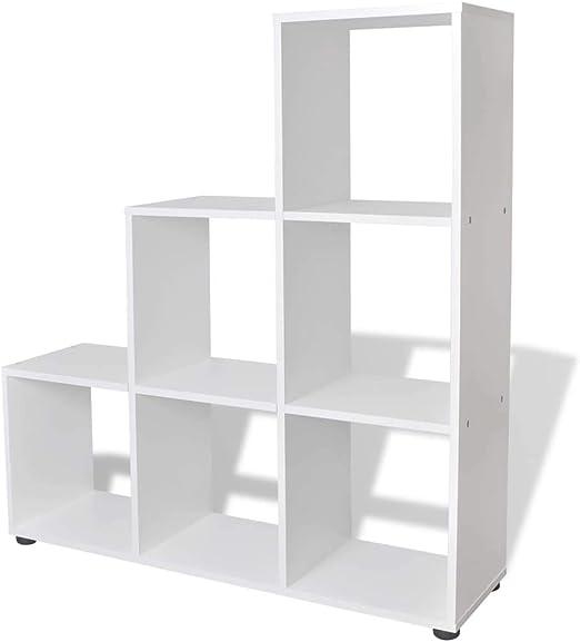 Tuduo estantería de Escalera/con Estante 107 cm Blanca diseño ...