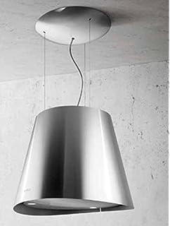 elica juno - cappa da cucina sospesa in acciaio inox, Ø 50 cm ... - Cappa Cucina Sospesa