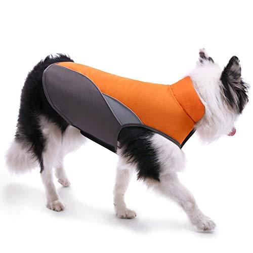 MIGOHI Dog Jacket for Cold Weather Waterproof Windproof Reflective Dog Coat Reusable Winter Dog Vest Autumn Pet Fleece Apparel for Small Medium Large Dog Outdoor Indoor Activities Orange S ()