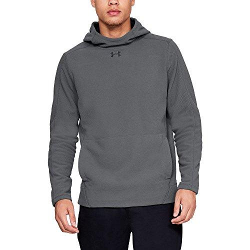 (Under Armour Men's Zephyr Fleece Solid Hoodie, Graphite (040)/Black, XX-Large)