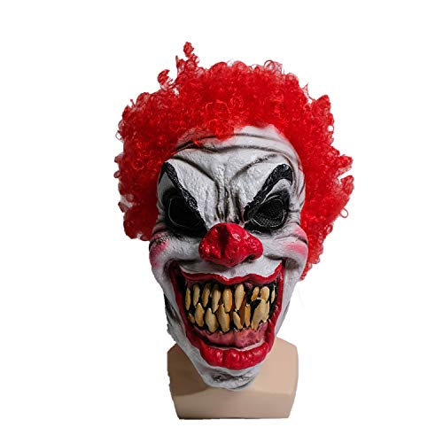 Wellin Evil Clown Scary Latex Mask ,Party Halloween Latex Masquerade Prop (Evil Clown) ()