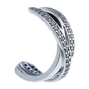 Earrings Aro Pandora 290730CZ Woman Silver Aro interlaced