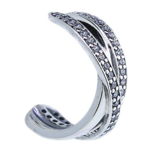 PANDORA 290730CZ Entwined Hoop Earrings