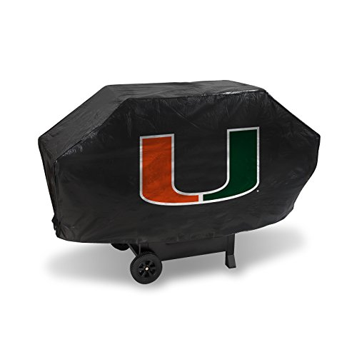 Miami Grill (Rico Industries NCAA Miami Hurricanes Vinyl Padded Deluxe Grill Cover)