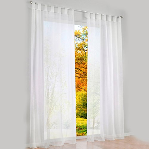 White Tab Top Curtains Amazon