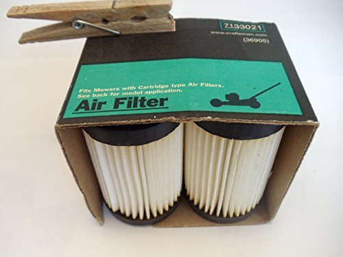 (Ship from USA) (2) Craftsman #33021 Lawn Mower Air Filter for Eager 1 Engines Replaces #36905 /ITEM NO#8Y-IFW81854267128 by Rosotion
