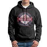 Red Sox 2017 Graphic Men's Long Sleeve Classic Pullover Print Hoodie Hooded Sweatshirt Drawstring Black