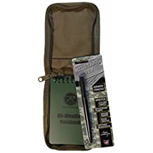 """All Weather Tactical 3""""x5"""" Notebook Kit TAN Cover & Fisher Military Space Pen"""
