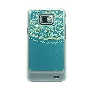 MOFY-Patr-n de las venas del cuero del t-tem del estuche r'gido para Samsung Galaxy S2 i9100