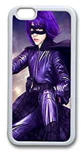 iphone 6 plus 5.5inch Case and Cover Kick Ass Hit Girl TPU Silicone Rubber Case Cover for iphone 6 plus 5.5inch White by Maris's Diaryby Maris's Diary