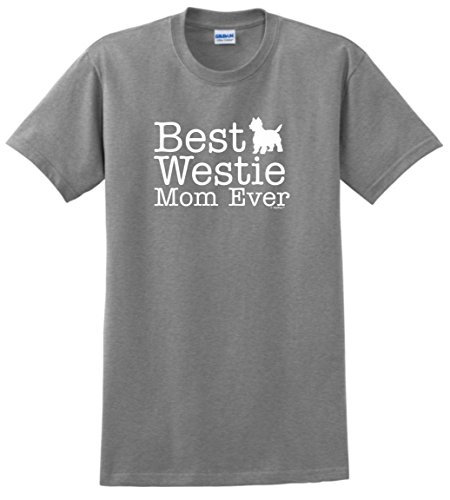 (West Highland Terrier Gifts West Highland Terrier Gifts Best Westie Mom Ever T-Shirt Medium SpGry)