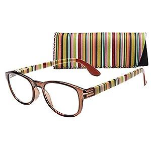 "ICU Eyewear ""Verona"" Women's Fashion Oval Reading Glasses by ICU (2.75),Brown"