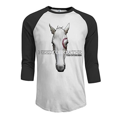 MarshallD Men's Needtobreathe The Outsiders 3/4 Sleeve Raglan Baseball T-Shirt Black XXL]()