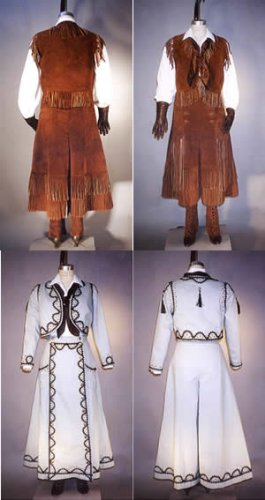 Misses Western Split Skirt, Jacket, Vest and Leggings Pattern (1890 - (Cowboy Vest Pattern)