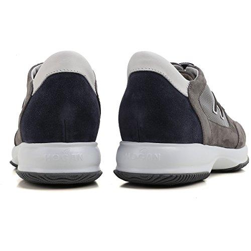 Hogan Sneakers Uomo HXM00N0Q102FJ8637P Camoscio Blu/Grigio