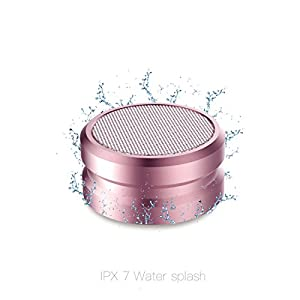 AVJONE Portable Wireless Bluetooth Speakers: IPX7 Waterproof Bluetooth Speakers for Smartphone, Tablet, Laptop, IPhone, Ipad| 3D Stereo Sound, Built-In Mic, 10M Range|Top Gifting Idea|( ROSE GOLD)
