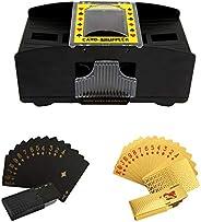 Automatic Poker Shuffler, 4 Battery Operated Electronic Shuffler, 2 Decks Cards Automatic Poker Card Shuffling