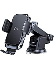 Wireless Car Charger, 15W Qi Fast Charging Auto Clamping Car Mount Windshield Dashboard Air Vent Phone Holder for iPhone 11 11 Pro Max Xs MAX XS XR X 8+, Samsung Galaxy S10+ S9+ S8 Note 9, etc