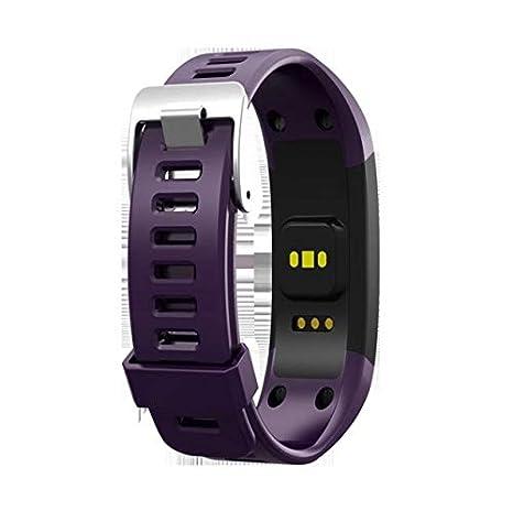 Amazon.com: TangFeii Pulsera inteligente impermeable Deportivo Negro pulsera Unisex reloj inteligente (Color : Blue): Electronics