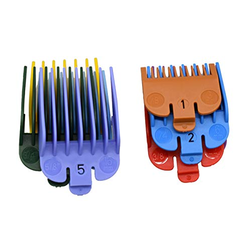 ZEROKIWI Professional Hair Clipper Guide Combs #3170-400, 8 Colors 8 Lengths Cutting Guards 1/8-1\