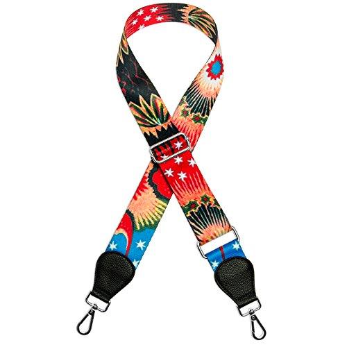 No Colorido Correa para CASPAR Bolsos de Universal Hombro Cinturón SR01 9 Multicolor Estrellas Iww5z