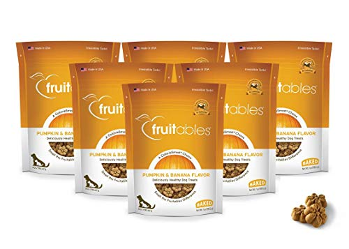 Cinnamon Flavor Small Dog Treats - Fruitables Pumpkin & Banana Crunchy Dog Treats, 7oz Pouch (Pack of 6)…