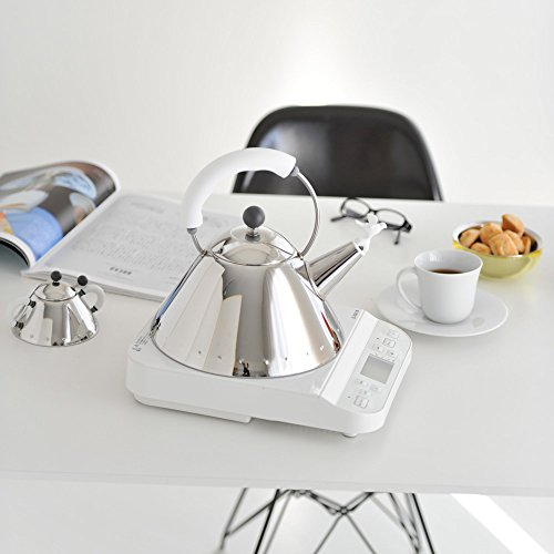 Alessi Kettle in 18/10 Stainless Steel Mirror Polished with Handle and Small Bird-Shaped Whistle in Pa, White by Alessi (Image #8)