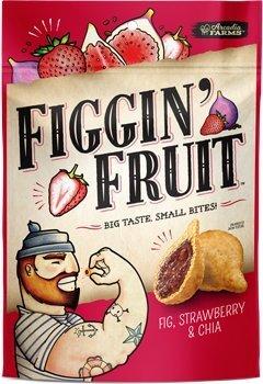Organic Figgin' Fruit Bites - Fig, Strawberry, and Chia - Dairy Free, Vegan- 16oz Resealable Bag