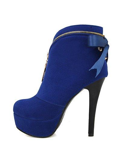 Uk3 Xzz 5 Botas Vestido 7 Zapatos Black Y Azul 5 Eu37 Tacón Uk4 Mujer Rojo Cn37 A Fiesta Noche Red Stiletto us6 Cn34 De 5 La us5 Moda Negro Vellón Eu35 SRrqXS