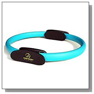 Pilates Ring - Superior Unbreakable Fitness Magic Circle for Toning Thighs, Abs and Legs (Blue)