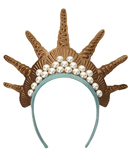 elope Gold Mermaid Costume Crown Headband for Women -