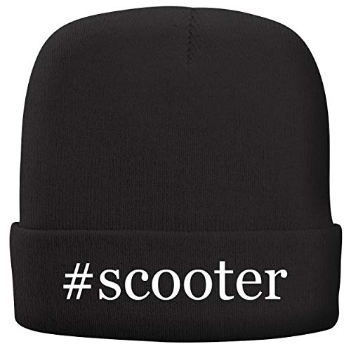 (BH Cool Designs #Scooter - Adult Comfortable Fleece Lined Beanie, Black)