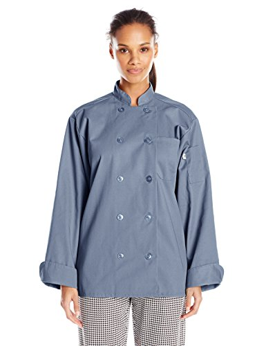 Uncommon Threads Unisex Orleans Chef Coat, Steel, X-Large by Uncommon Threads