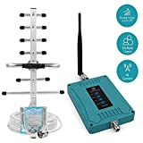 Multiple Band Cell Phone Signal Booster Antenna for All Carriers 3G 4G LTE Home Use - Band 2/4/5/12/13/17 Cellular Repeater Amplifier Kit Boosts Voice & Data Signal for Verizon AT&T T-Mobile Sprint