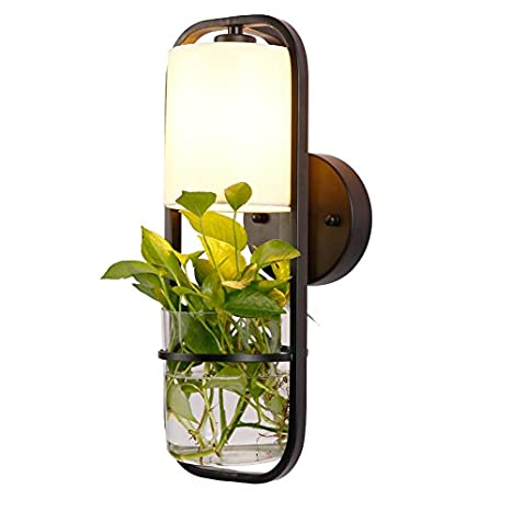 Avanthika E27 Wall Sconces Mounted Wall Lamps Iron Potted Plants ...