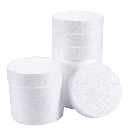 Craft Foam Circle - 12-Pack Polystyrene Foam Disc Foam Round for Sculpture, Modeling, DIY Arts and Crafts - White, 4 x 4 x 1 Inches]()