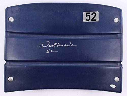 DAVE EDWARDS SIGNED DALLAS COWBOYS GAME USED TEXAS STADIUM SEAT-BACK w/COA - JSA Certified - NFL Autographed Game Used Stadium Equipment
