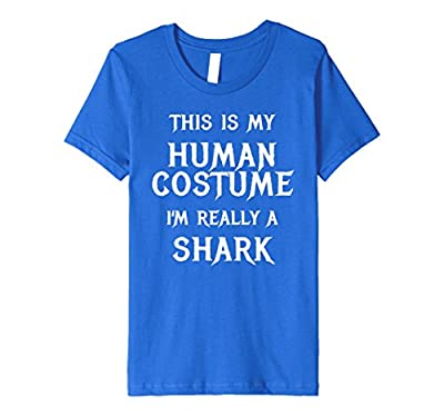 Funny Shark Costume Halloween Shirt for Women Men Boys Girls