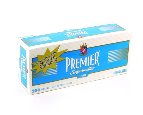 PREMIER CIGARETTE TUBES KING LIGHTS 50ct CASE- NEW