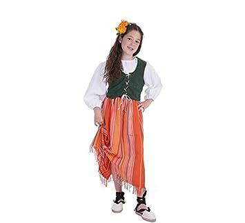 Disfraz de Bodeguera medieval para niña: Amazon.es: Juguetes y juegos