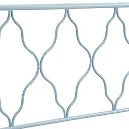 WE Furniture Moroccan Style Twin Metal Headboard, Blue