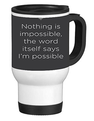Inspirational Quote Phone Case 14 ounce Stainless Travel Mug Thermos (Positive Quote Mugs compare prices)